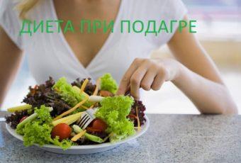 Диета при подагре и повышенной мочевой кислоте: продукты и меню