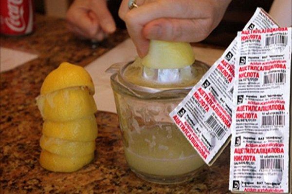 Я смешала сок лимона с аспирином на ночь на ноги.. На следующее утро я была в шоке. Не ожидала такого…