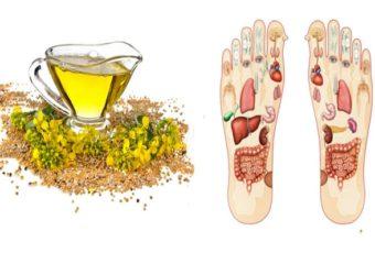 Втирайте горчичное масло в стопы ног! Вот какие преимущества это дает